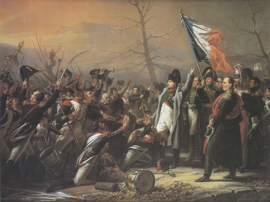 Napoleon greeted by the 5th Regiment at Grenoble after his escape from Elba (Charles de Steuben)